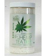 1 Count Natural Therapy 37 Oz Hemp & Tea Tree Relaxing Dead Sea Bath Salts - $17.99