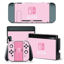 Nintendo Switch Faceplate Skin Decal Sticker Protector - Pink - $9.99
