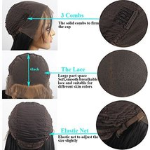 vvBing 6inch Lace Deep Parting Hair Wig Short Bob Lace Front Wig Synthetic 2 Ton image 7
