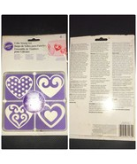 WILTON CAKE STAMPS SET of 4 HEARTS  - $10.99