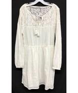NWT Cotton On Sz L Smock Jacinta Boho Festival Tassel Womens Ivory Women... - $26.60