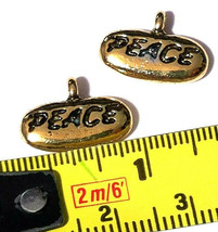 PEACE (WORD) FINE PEWTER PENDANT CHARM image 2
