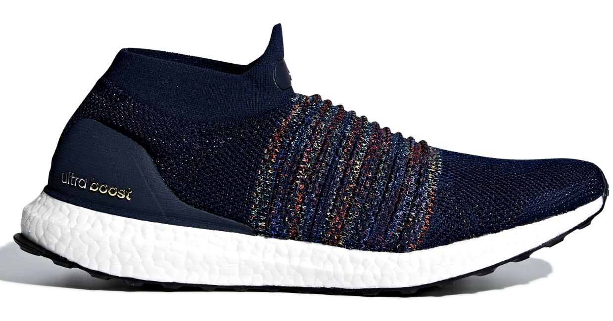 ADIDAS ULTRABOOST LACELESS BLUE/MULTI-COLOR SIZE 9 BRAND NEW (CM8269)