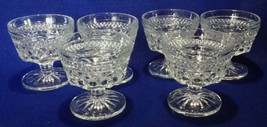 Vtg Anchor Hocking Wexford sherberts, champagne, footed desserts, lot of... - $11.87