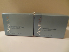 LOT OF 2   AVON ANEW  RETROACTIVE CREAM  1.7 OUNCE NEW IN THE BOX CLEAN ... - $26.99