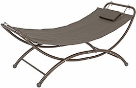 SORARA Heavy Duty Quilted Fabric Patio and Garden Hammock Bed with Frame... - $99.94