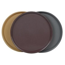 Cand Plastic Round Serving Trays, 3 PacksBrown, khaki, Grey - $14.34