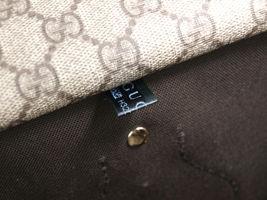 GUCCI GG Web PVC Canvas Patent Leather Browns Shoulder Bag GS2242 image 10