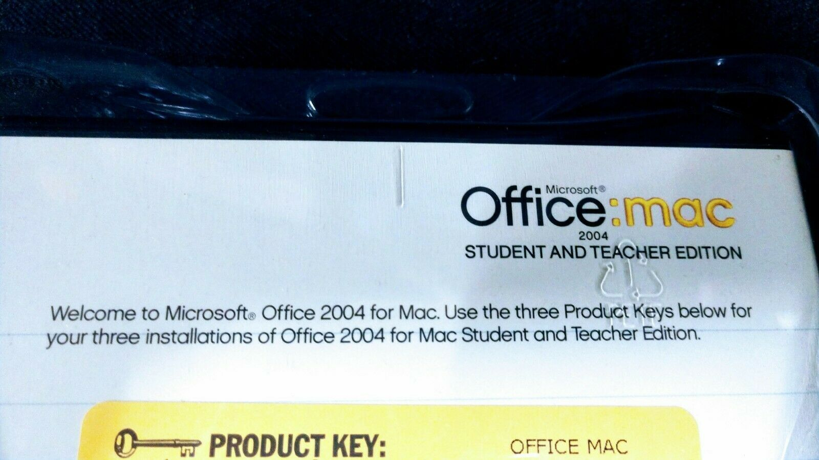 Microsoft Office 2004 Student and Teacher Edition for Mac - New Sealed