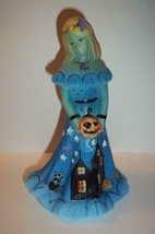Fenton Glass Jackie-O Lantern Halloween Bridesmaid Doll Cat Ltd Ed Barle... - $222.62