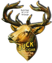 Buck Cigar Laser Cut Out reproduction 18×22 - $29.70