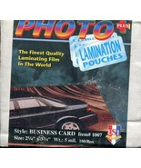 (100) USI Photo Plus Business Card Laminate Pouches 5MIL - New Old Stock - $3.55