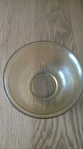 Depression Glass Amber Vertical Ribbed Bowl with Smooth Rim 1 Quart - $6.99