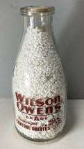Vintage Wilson Owens Central Dairies Columbia, SC Milk Bottle Scarce Design - $49.49