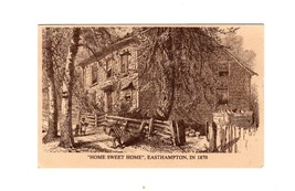 "POSTCARD-""HOME SWEET HOME""- 1870 BOYHOOD HOME OF COMPOSER JOHN HOWARD PA... - $1.98"