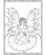 Fairy Sat on a Flower  Single Colour PDF Cross Stitch Chart - $10.00