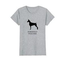 Doberman Pinscher Shirt - black silhouette - $19.99+
