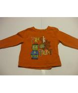 Orange Halloween Long Sleeve Shirt toddlers 2T George 100% Cotton  - $6.92