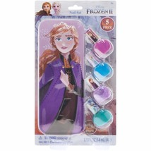 Disney Frozen ll 5 Piece Nail Polish Set with Anna Inspired Tin Stocking... - $14.50
