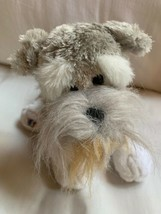 Ganz Webkinz Gray Schnauzer Puppy Dog Stuffed Plush Animal Nice Condition - $18.70