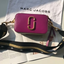 Marc Jacobs Snapshot Small Camera Bag Crossbody Bag Star Strap Purple Mu... - $199.00