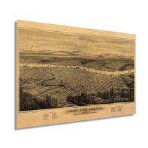 1879 Map of Portland Oregon - Vintage Map of Portland Wall Art - Portland Oregon - $34.99+