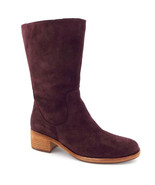 New KORK-EASE Size 7 MERCIA Burgundy Suede Mid-Calf Boots - $129.00