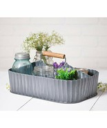 Multi-purpose Rustic Farmhouse Metal Caddy With Middle Divider And Woode... - $49.95