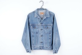 Vintage 90s Gap Streetwear Mens Medium Full Button Trucker Denim Jean Jacket  - $49.45