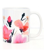 Ceramic coffee mug pink roses 11 oz. thumbtall