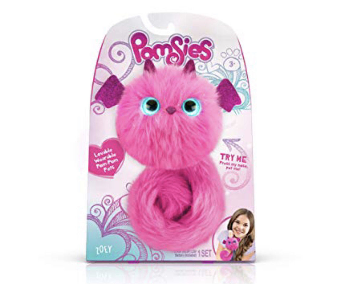 POMSIES Pom Pink ZOEY DRAGON Interactive Pet Plush Toy IN HAND FREE SHIPPING