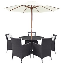 Convene 7 Piece Outdoor Patio Dining Set Espresso White EEI-2193-EXP-WHI... - $1,402.75