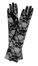 NEW WOMEN'S LEG AVENUE FORMAL LACE ELBOW LENGTH GLOVES BLACK G1116 ONE SIZE