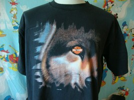 Vintage 90's Harley Davidson Motorcycle Cancun Mexico Wolf T Shirt L  - $36.62