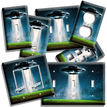 ALIEN SHIP FLYING SAUCER UFO ABDUCTION LIGHT SWITCH OUTLET WALL PLATE NE... - $10.99+