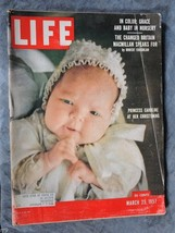 Life Magazine - March 25, 1957 - In Color: Grace and Baby In Nursery - $2.50