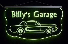 Personalized For Mustang Sign, Gift for Dad, LED Mancave Sign image 6