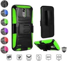 LG Stylo 3 Case, LG Stylo 3 Plus Case, Holster Clip Case Heavy Duty Rug... - $16.99