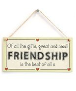Meijiafei Of all the gifts, great and small Friendship is the best of al... - £9.06 GBP