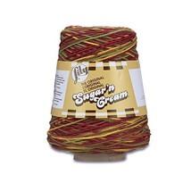 Lily Sugar'n Cream Cotton Cone Yarn, 14 oz, Autumn Leaves Ombre, 1 Cone - $13.20