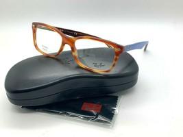 Ray-Ban Optical Rb 5228 5799 Light Havana BROWN/BLUE Eyeglasses Frame 55-17-140 - $77.57