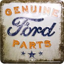 """Genuine Ford Parts Rustic Vintage Look 12"""" x 12"""" Embossed Metal Parking ... - $9.95"""