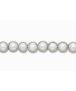 6mm Acrylic Round Beads, Wonder Silver, luminous 16in strand, 70 plastic... - $2.50