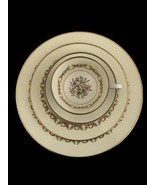 Wedgwood Pink Ribbon Sandringham bone china 5 piece place setting W3510 - $45.00