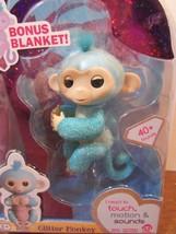 Fingerlings AMELIA Glitter Monkey WowWee Amazon Exclusive Bonus blanket NEW - $17.82