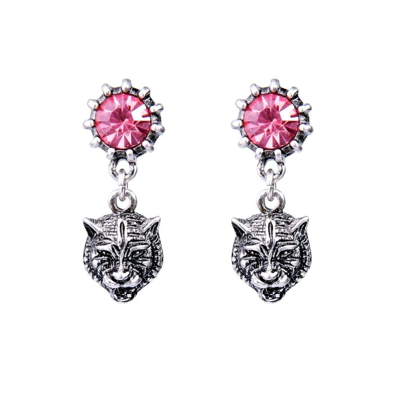 Ard head hanging earrings for women animal design bijoux short vintage earrings indian jewelry 3
