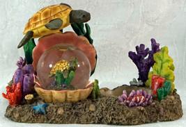 Cadona 1999 Mini Water Globe Sea Turtle Ocean Theme Coral Figurine Votiv... - £20.10 GBP