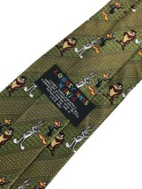 "New Looney Tunes Mania Tie Men's Neck Tie Green Designer 58"" - $8.95"