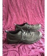 Merrell Loess Men's Leather Walking / Hiking Shoes, Black, Size 9.5 - $44.10