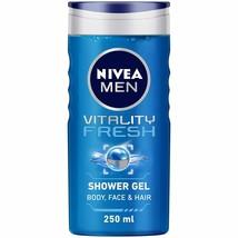 NIVEA Herren Duschgel, Vitalität Frisch Mit Ocean Mineralien, 250ml (1) - $19.83